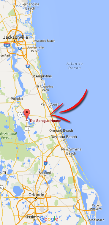 Florida Map Directions.Directions And Maps The Sprague House Bed And Breakfast Inn